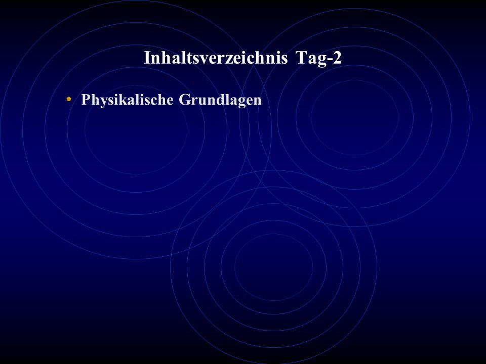Inhaltsverzeichnis Tag-2 Physikalische Grundlagen