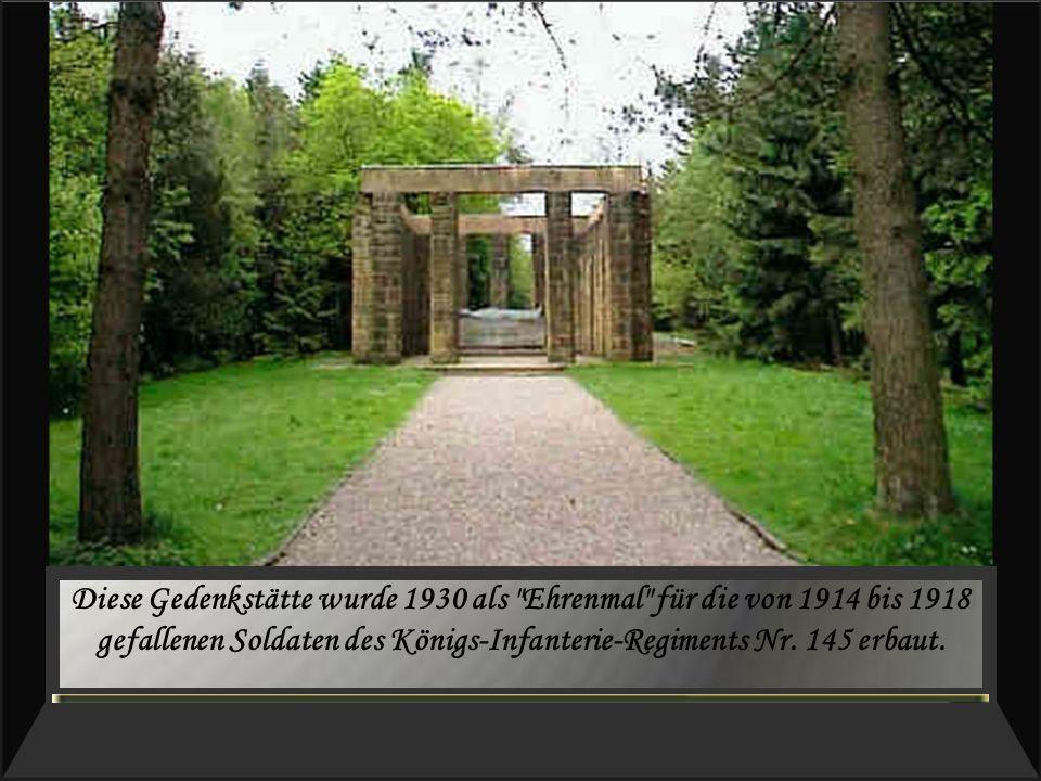Diese Gedenkstätte wurde 1930 als