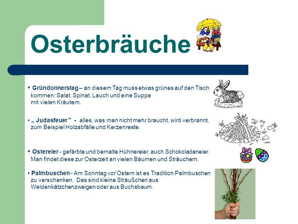 Traditioneller Osterschmuck Lese und ergänze.OSTERPALMEN Nach der vierzigtägigen.........