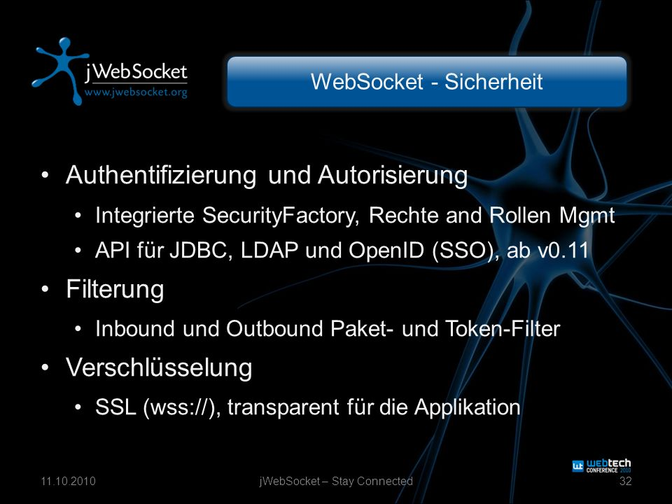 Filterchain jWebSocket – Stay Connected3311.10.2010