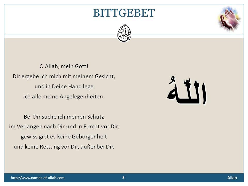 4 Allah 4 http://www.names-of-allah.com ÜBERLIEFERUNG Der Prophet Muhammad (s. a. w.) sagte:... es gibt neunundneunzig Namen, die nur Allah gehören. D