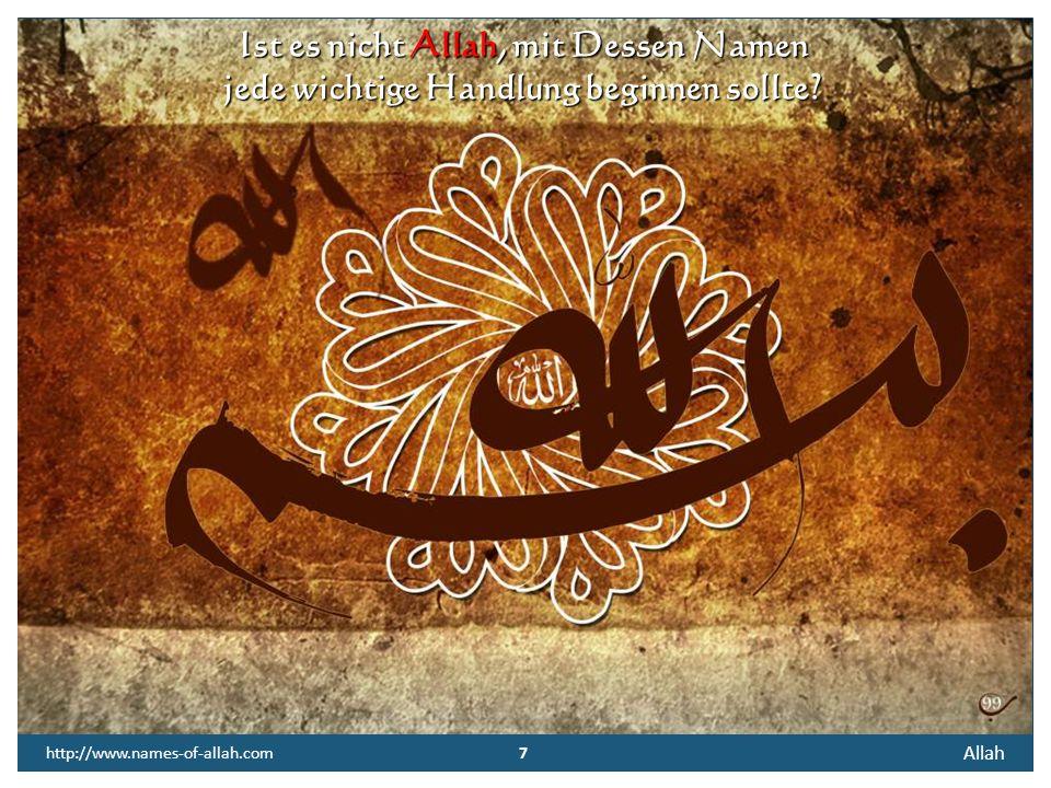 6 Allah 6 http://www.names-of-allah.com FREIER TEXT Ob der Quran von Ewigkeit sei? Danach frag' ich nicht! Dass er das Buch der Bücher sei Glaub ich a