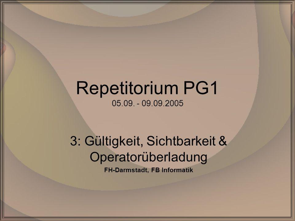Rep.PG1 – Kap. 3: G,S & OUDipl. Inf.