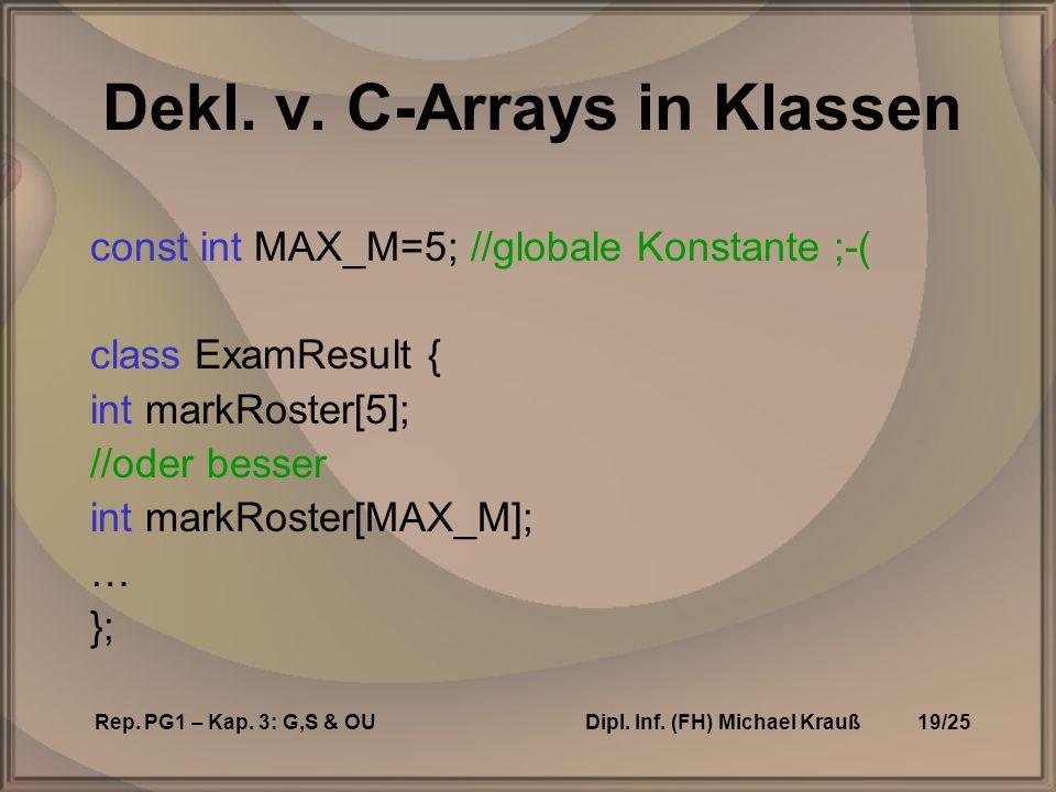 Rep. PG1 – Kap. 3: G,S & OUDipl. Inf. (FH) Michael Krauß19/25 Dekl.