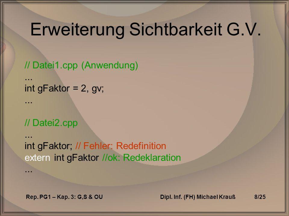 Rep. PG1 – Kap. 3: G,S & OUDipl. Inf. (FH) Michael Krauß8/25 Erweiterung Sichtbarkeit G.V.