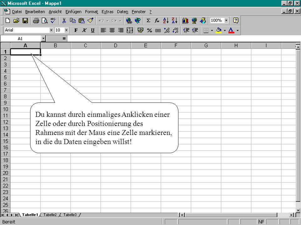 Excel bietet die Möglichkeit, mehrere Tabellen in einer Datei bzw. einer Arbeitsmappe zu verwalten!