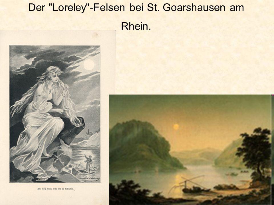 Der Loreley -Felsen bei St. Goarshausen am Rhein.