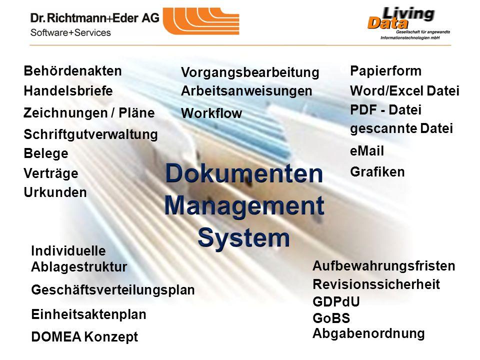 digitale Akte Schriftgutverwaltung Vorgangsbearbeitung Workflow Einheitsaktenplan Individuelle Ablagestruktur Geschäftsverteilungsplan Behördenakten H