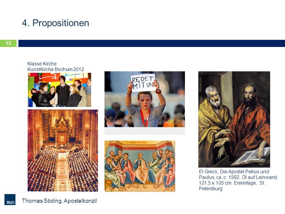 4. Propositionen Thomas Söding, Apostelkonzil 13 El Greco, Die Apostel Petrus und Paulus, ca. c. 1592, Öl auf Leinwand, 121,5 x 105 cm. Eremitage, St.