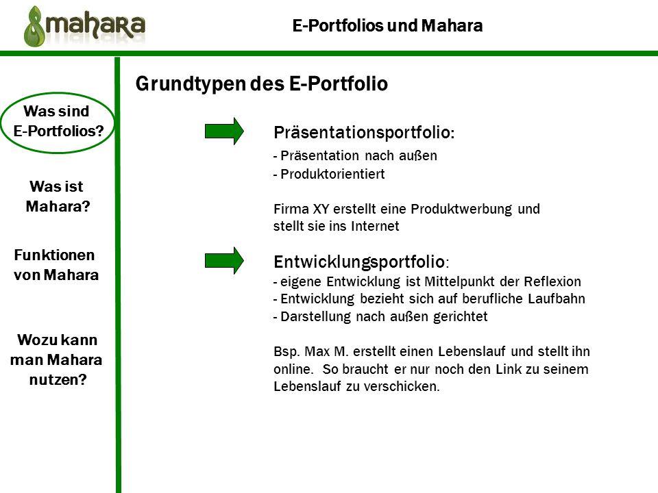 E-Portfolios und Mahara Was sind E-Portfolios.Was ist Mahara.