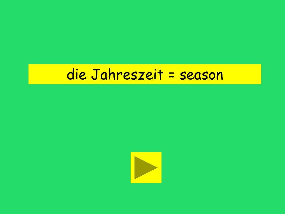 die Jahreszeit = season
