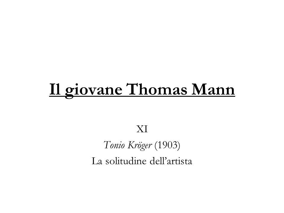 Lo sguardo di Thomas Mann sulla cultura del tempo si fonda su alcune antitesi.