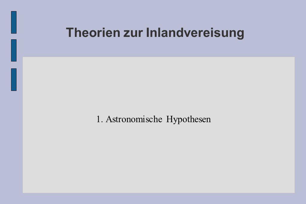 Theorien zur Inlandvereisung 1. Astronomische Hypothesen
