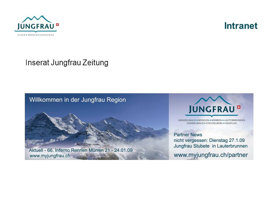Intranet Inserat Jungfrau Zeitung