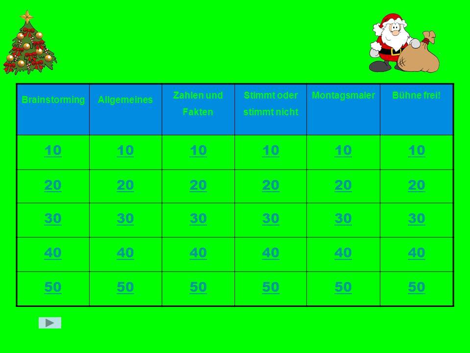 Zähle 4 typische Weihnachtslieder auf !