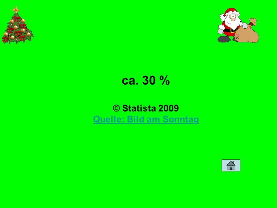 ca. 30 % © Statista 2009 Quelle: Bild am Sonntag Quelle: Bild am Sonntag