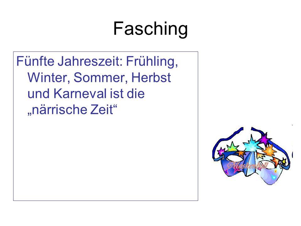 Fasching Fünfte Jahreszeit: Frühling, Winter, Sommer, Herbst und Karneval ist die närrische Zeit