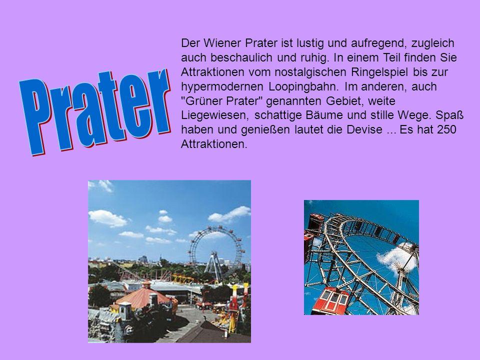 Der Wiener Prater ist lustig und aufregend, zugleich auch beschaulich und ruhig. In einem Teil finden Sie Attraktionen vom nostalgischen Ringelspiel b