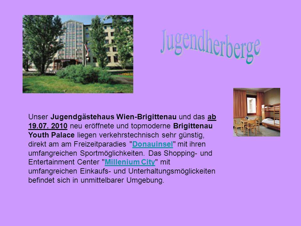 Unser Jugendgästehaus Wien-Brigittenau und das ab 19.07. 2010 neu eröffnete und topmoderne Brigittenau Youth Palace liegen verkehrstechnisch sehr güns
