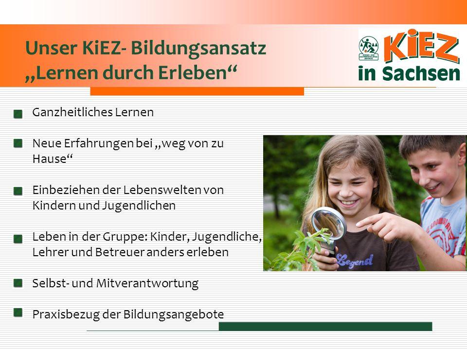 Unser KiEZ- Bildungsansatz Lernen durch Erleben Ganzheitliches Lernen Neue Erfahrungen bei weg von zu Hause Einbeziehen der Lebenswelten von Kindern u