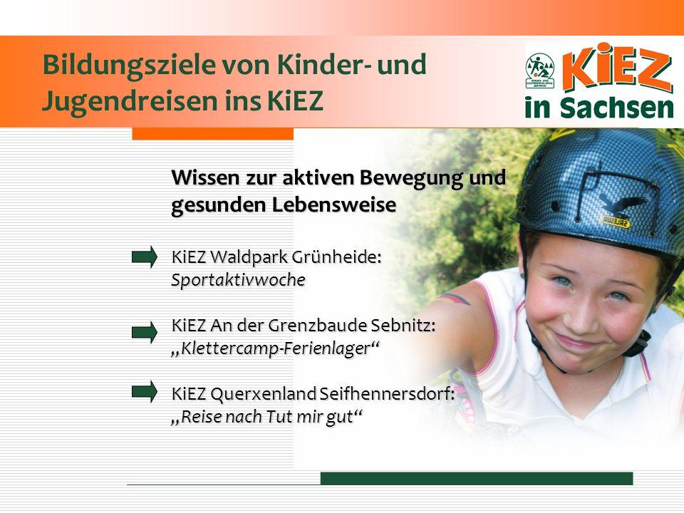 Bildungsziele von Kinder- und Jugendreisen ins KiEZ Wissen zur aktiven Bewegung und gesunden Lebensweise KiEZ Waldpark Grünheide: Sportaktivwoche KiEZ