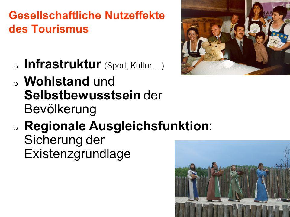 Universität für Bodenkultur Wien Department für Raum, Landschaft und Infrastruktur IRUB 84 Gesellschaftliche Nutzeffekte des Tourismus Infrastruktur (