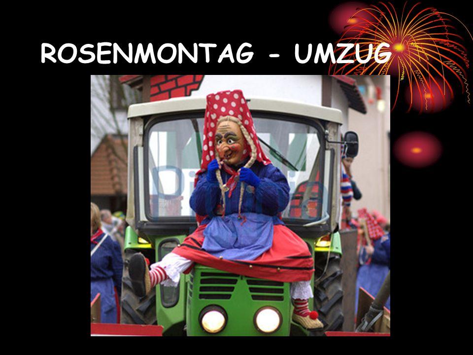 ROSENMONTAG - UMZUG