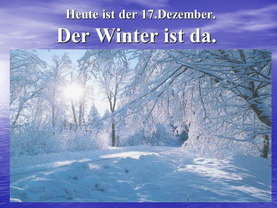 Heute ist der 17.Dezember. Der Winter ist da.