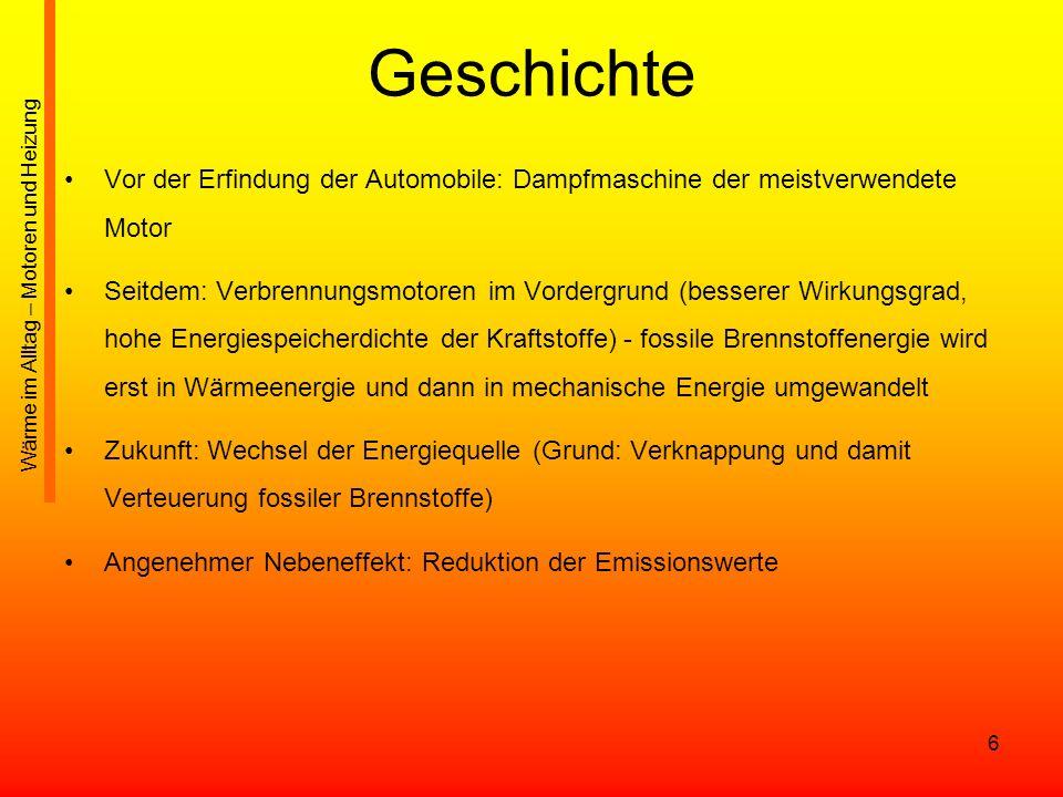 17 Dieselmotor / Ottomotor Selbstzünder (Dieselmotor) Verbrennung eines Kraftstoffes ohne Hilfsmittel - nur durch die hohe Verdichtung des Luft-Brennstoffgemisches Glühkerzen des Dieselmotors bzw.