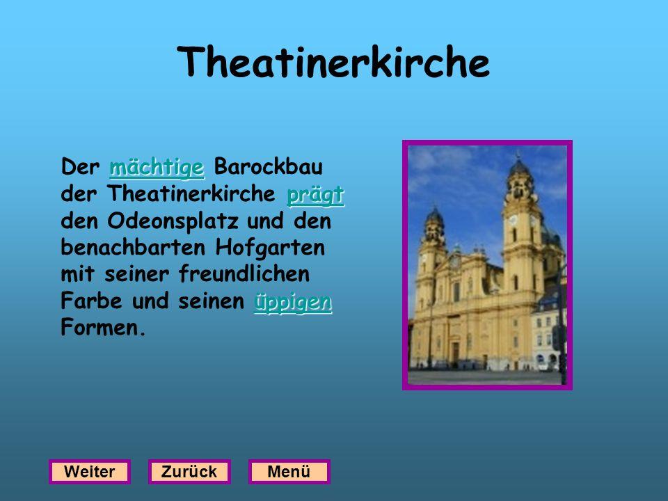 Theatinerkirche mächtige prägt üppigen mächtige prägt üppigen Der mächtige Barockbau der Theatinerkirche prägt den Odeonsplatz und den benachbarten Ho