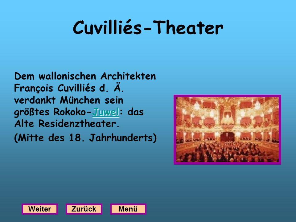 Cuvilliés-Theater Juwel Juwel Dem wallonischen Architekten François Cuvilliés d. Ä. verdankt München sein größtes Rokoko-Juwel: das Alte Residenztheat