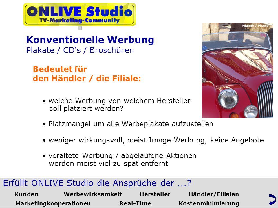Erfüllt ONLIVE Studio die Ansprüche der....