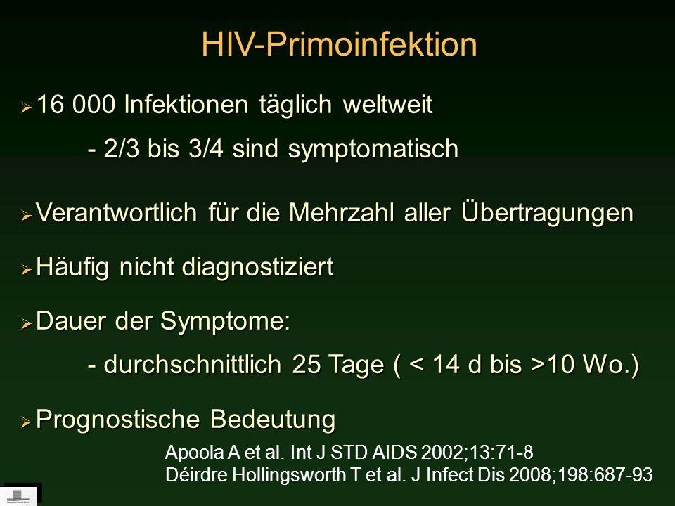 16 000 Infektionen täglich weltweit - 2/3 bis 3/4 sind symptomatisch 16 000 Infektionen täglich weltweit - 2/3 bis 3/4 sind symptomatisch Verantwortli