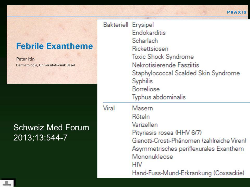 Anamnese und genauer Status entscheidend Anamnese und genauer Status entscheidend Febrile Exantheme