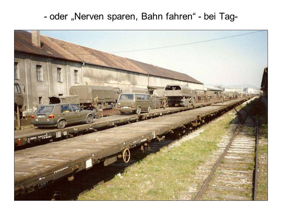 - oder Nerven sparen, Bahn fahren - bei Tag-