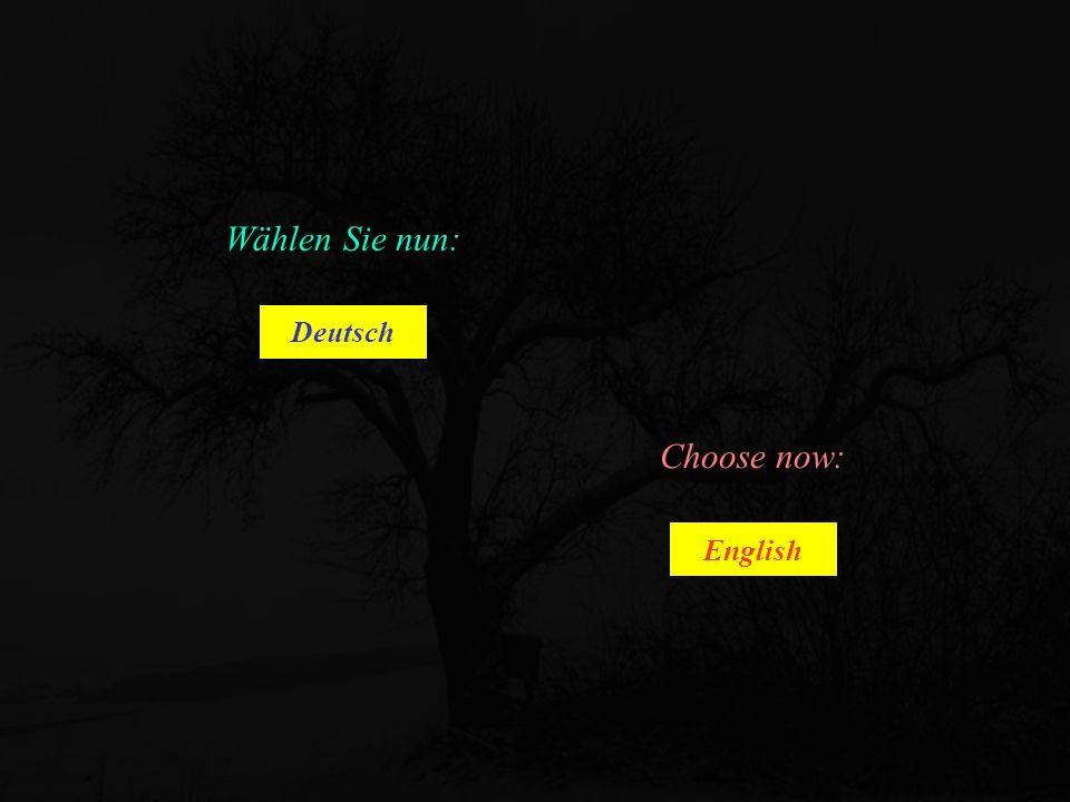 Wählen Sie nun: Deutsch English Choose now: