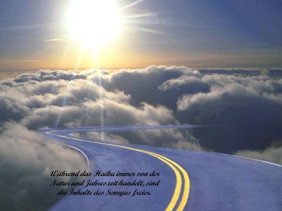 Während das Haiku immer von der Natur und Jahreszeit handelt, sind die Inhalte des Senryus freier.