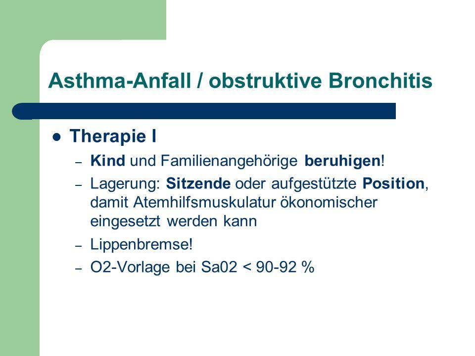 Asthma-Anfall / obstruktive Bronchitis Therapie I – Kind und Familienangehörige beruhigen.