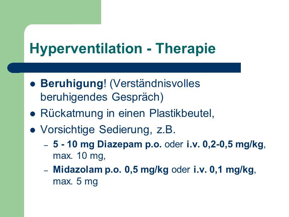 Hyperventilation - Therapie Beruhigung.