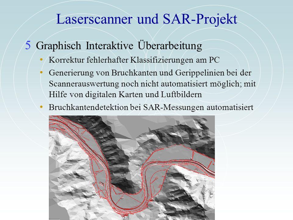 Laserscanner und SAR-Projekt 5 Graphisch Interaktive Überarbeitung Korrektur fehlerhafter Klassifizierungen am PC Generierung von Bruchkanten und Geri