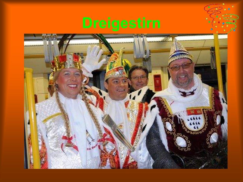 Dreigestirn Das Dreigestirn besteht aus drei Figuren des Kölner Karnevals: dem Prinzen, dem Bauern und der Jungfrau.