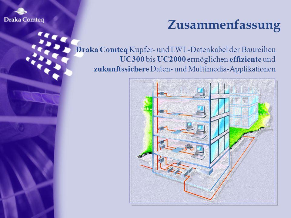 Zusammenfassung Draka Comteq Kupfer- und LWL-Datenkabel der Baureihen UC300 bis UC2000 ermöglichen effiziente und zukunftssichere Daten- und Multimedi