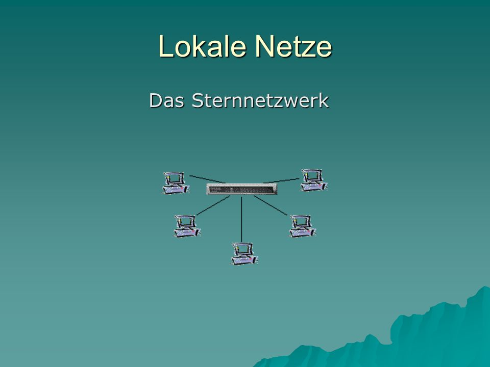Lokale Netze Das Sternnetzwerk