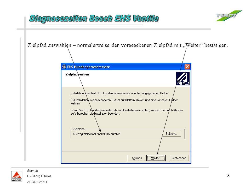9 Service H.-Georg Harries AGCO GmbH CAN Sontheim anklicken, CAN Vector deaktivieren, danach mit Weiter bestätigen