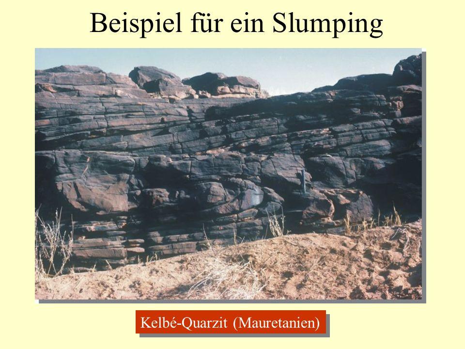 Beispiel für ein Slumping Kelbé-Quarzit (Mauretanien)