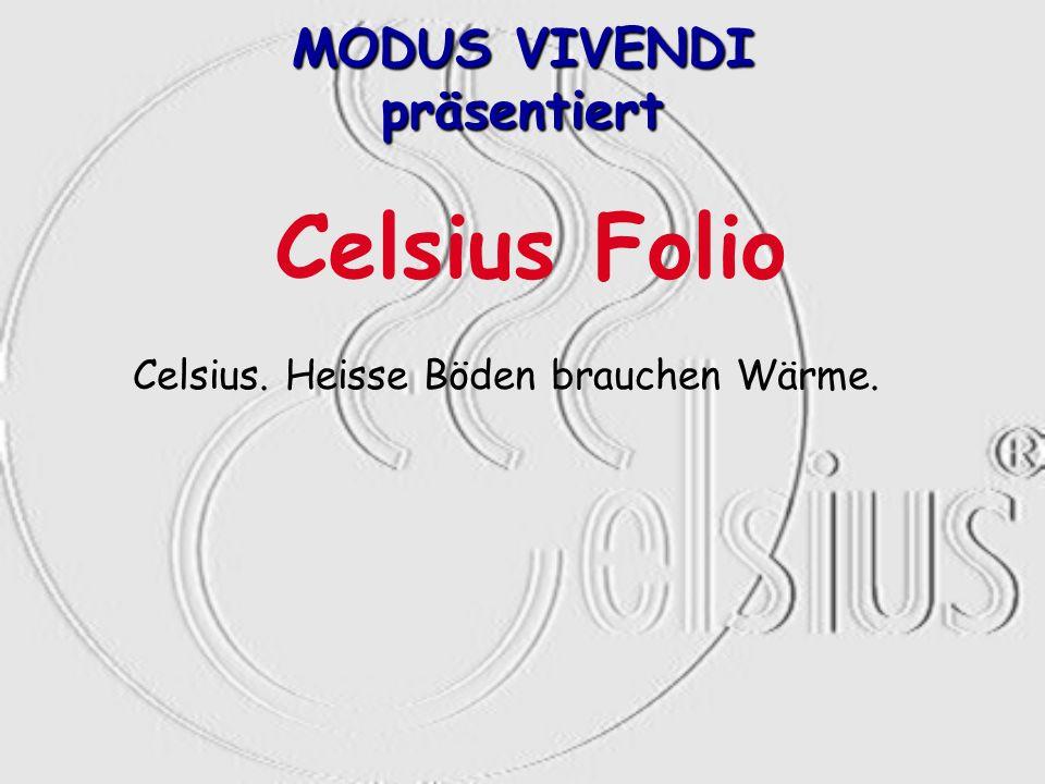 Celsius. Heisse Böden brauchen Wärme. MODUS VIVENDI präsentiert Celsius Folio
