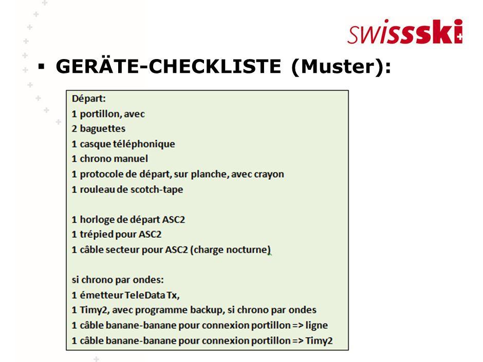 GERÄTE-CHECKLISTE (Muster):