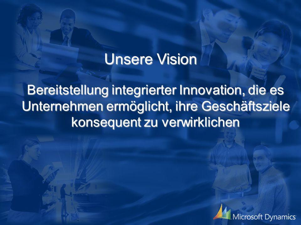 Unsere Vision Bereitstellung integrierter Innovation, die es Unternehmen ermöglicht, ihre Geschäftsziele konsequent zu verwirklichen
