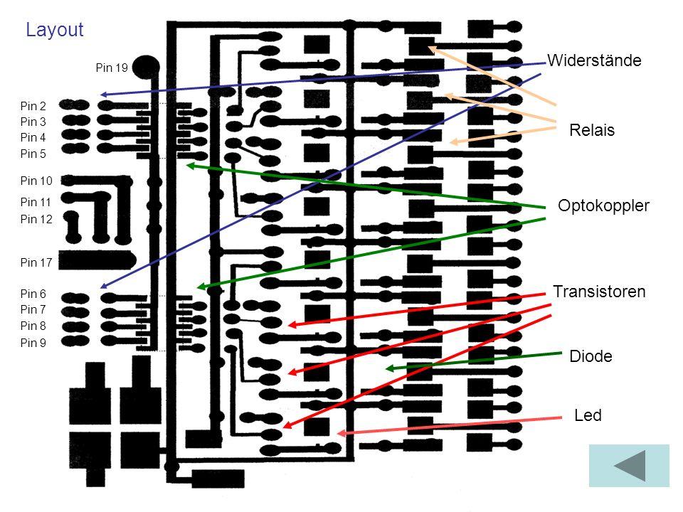 Die Eingabeschaltung Als Eingänge werden die Pins 10, 11 und 12 der Schnittstelle benutzt.