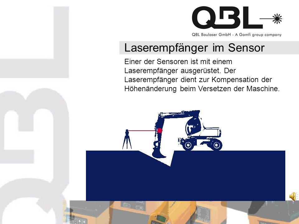Laserempfänger im Sensor Einer der Sensoren ist mit einem Laserempfänger ausgerüstet.